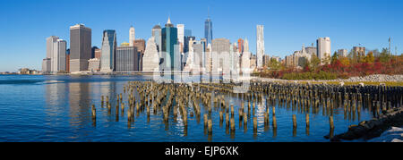 USA, New York City, Downtown Manhattan Financial district, One World Trade Center Freedom Tower - Stock Photo