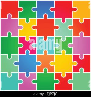 Jigsaw Puzzle Pieces Background Vector - Stock Photo