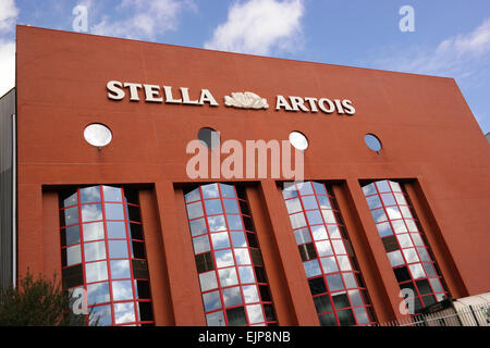 LEUVEN, BELGIUM - OCTOBER 2014  Stella Artois brewery in Leuven part of Anheuser-Busch InBev. - Stock Photo