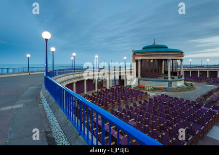 Evening at Eastbourne Bandstand, East Sussex, England. - Stock Photo