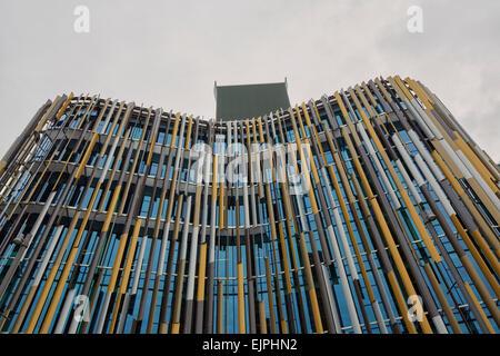 ASB Building, North Wharf, Auckand, North Island, New Zealand - Stock Photo