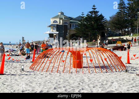 Artwork on display at the 2015 Sculpture By the Sea event. Cottesloe Beach, Perth, Western Australia. - Stock Photo