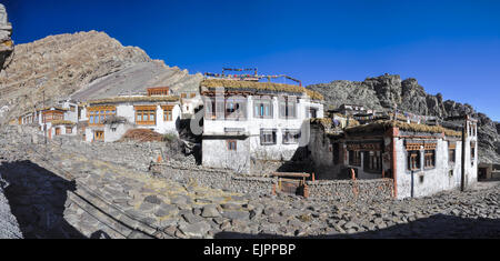 Picturesque view of traditional housing in Ladakh, India - Stock Photo