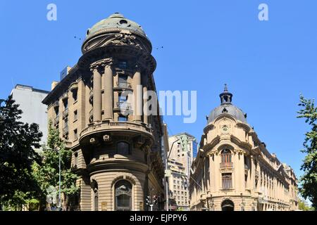 Stock Exchange Building colonial architecture, Santiago de Chile - Stock Photo