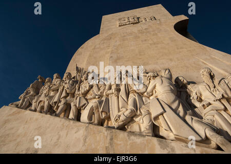 LISBON/PORTUGAL 10TH DECEMBER 2006 - Monument to the Discoveries on the bank of Tagus River - Stock Photo