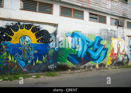 Mural, Paramaribo, Suriname - Stock Photo