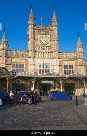 Entrance Bristol Temple Meads railway station, UK - Stock Photo