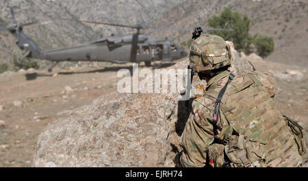 U.S. Army Capt. Jacob Hughes, commander of Bravo Company, 2nd Battalion, 35th Infantry Regiment, 3rd Brigade Combat - Stock Photo