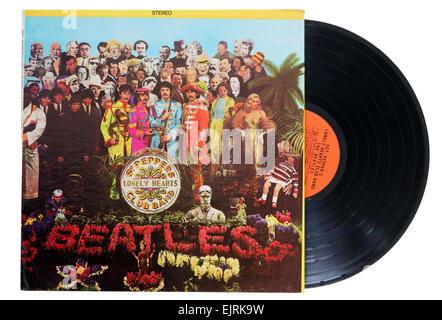 Beatles Sergeant Pepper's Lonely Hearts Club Band album - Stock Photo