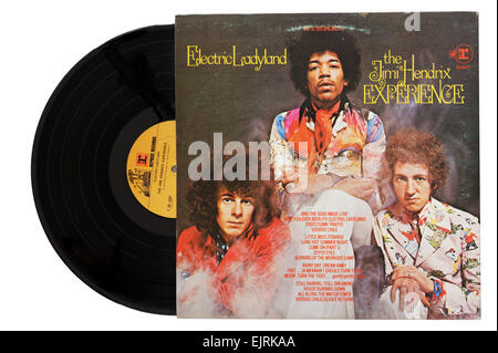 Jimi Hendrix Experience album Electric Ladyland - Stock Photo