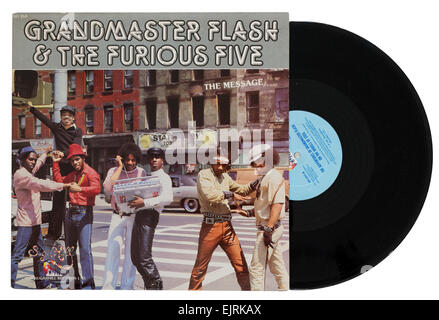 Grandmaster Flash and the Furious Five album The Message - Stock Photo