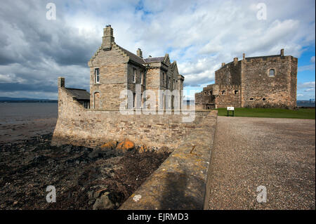 Scotland. Blackness Castle on the south bank of the Firth of Forth to the west of Edinburgh. March 2015 - Stock Photo