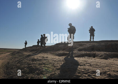U.S. Army Soldiers of Headquarters and Headquarters Company, 1st Battalion, 24th Infantry Regiment, 1st Stryker - Stock Photo