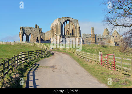 Egglestone Abbey, County Durham, UK - Stock Photo