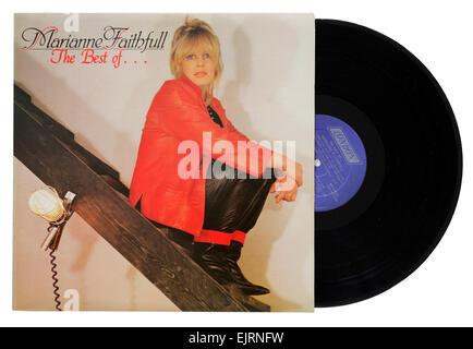 the Best of Marianne Faithfull album - Stock Photo