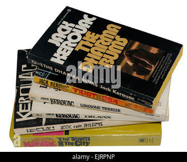 A collection of Jack Kerouac books - Stock Photo