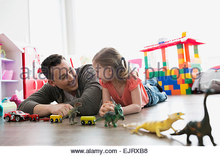 Father and daughter in a train Stock Photo: 62365556