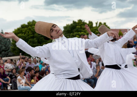 Konya, Konya Province, Turkey. Whirling Dervishes. - Stock Photo