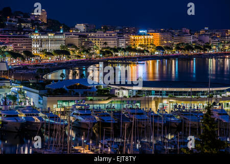 Cannes twilight - Stock Photo