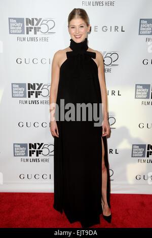52nd New York Film Festival - 'Gone Girl' - World premiere Featuring: Rosamund Pike Where: Manhattan, New York, - Stock Photo