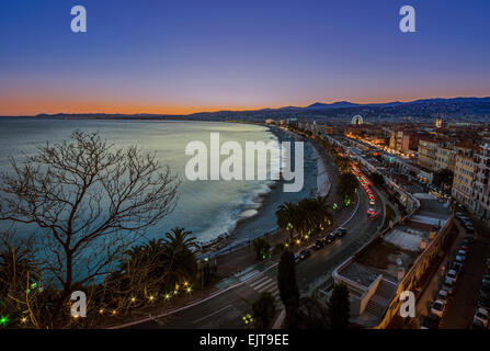 Sunset in Nice - Stock Photo