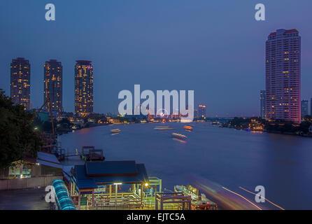 Bangkok by night - Stock Photo