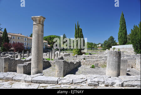 La Villasse, these extensive Roman ruins are at Vaison-La-Romaine, Provence, France. - Stock Photo