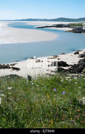 luskentyre beach isle of harris - Stock Photo