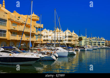 Puerto Marina, Yacht Harbour, Benalmadena. Malaga province, Costa del Sol, Andalusia, Spain - Stock Photo