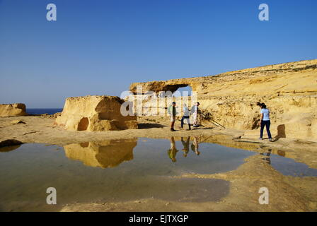 The Azure Window ,one of the most beautiful attraction of Gozo Island - Stock Photo