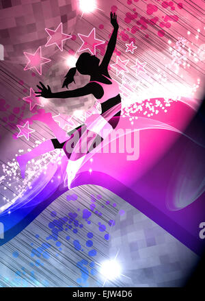 Dance, hip-hop or fitness invitation advert background with empty space - Stock Photo