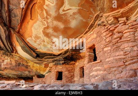Fallen Roof Anasazi Ruins - Cedar Mesa - Utah - Stock Photo