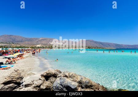Elafonisi Beach, Crete, Greece - Stock Photo
