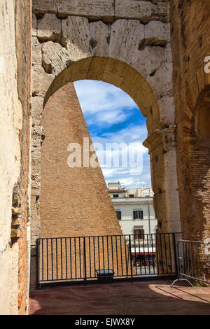 ROME, ITALY - MAY 04, 2014: Ruins of the Colosseum in Rome, Italy - Stock Photo