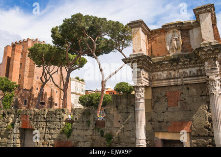 ROME, ITALY - MAY 04, 2014: The picturesque ruins of Rome, Italy - Stock Photo