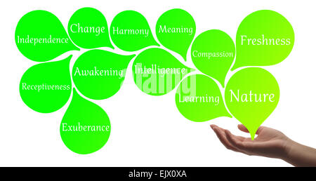 Colour Therapy - Light Green healing energy - Stock Photo