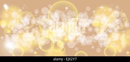 Gentle multicolored bokeh sparkly website header/banner - Stock Photo