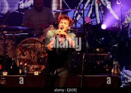 Paolo Nutini performing at Kirstenbosch National Botanical Garden on the 18th March 2015. - Stock Photo