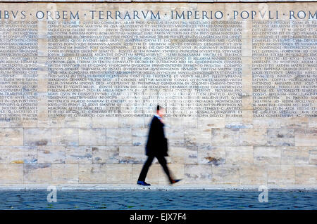 A detail of latin inscription on the front of st peter 39 s - Res gestae divi augusti ...