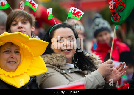 People waving banners and flags taking part in the St ...