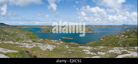 Loch Sgiopoirt east coast of south uist - Stock Photo