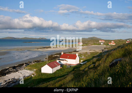 beach barra at  Barra Eoligarry by Airport cottages - Stock Photo