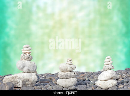 Coral heaps on stones, Zen spa concept background. - Stock Photo