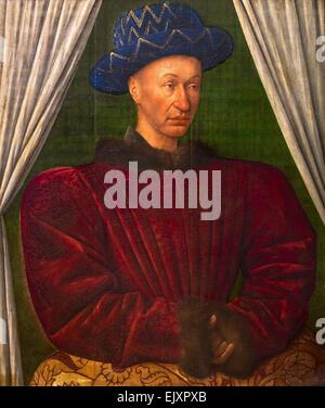 ActiveMuseum_0001965.jpg / Charles VII, King of France, ca 1445 - Jean Fouquet 26/09/2013  -   / Middle Ages Collection - Stock Photo