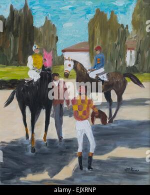 ActiveMuseum 0004733.jpg / The Three Jockeys, Chantilly 01/07/2014  -  Waiting / 21th century Jean-Marc Rives / Active Museum