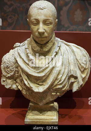 ActiveMuseum_0005751.jpg / Charles IX King of France in 1560, according to the bust of Germain Pilon kept at the - Stock Photo