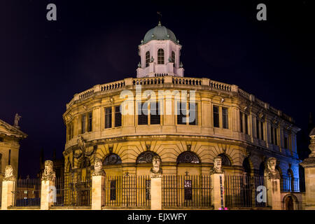 The Sheldonian Theatre is a building of Oxford University used for concerts and award ceremonies, designed by Christopher - Stock Photo
