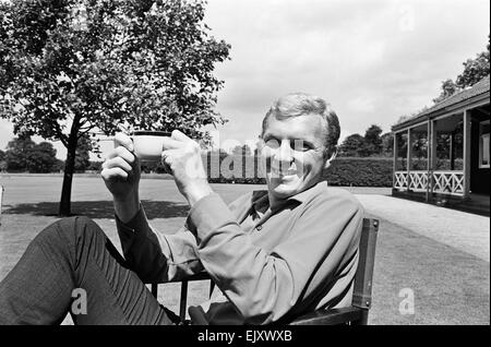 Bobby Moore, relaxes day before the World Cup Final 29th July 1966. match. *** Local Caption *** England captain - Stock Photo