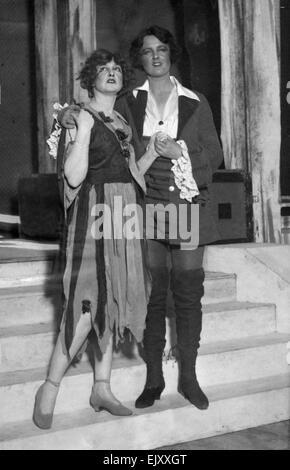 Scene from the play Robin Hood. 18th January 1922. - Stock Photo