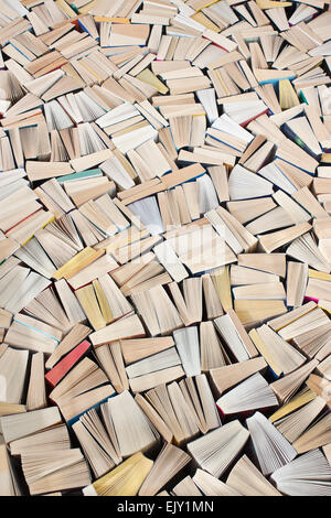 Pulp fiction, mass of paperback books filling image
